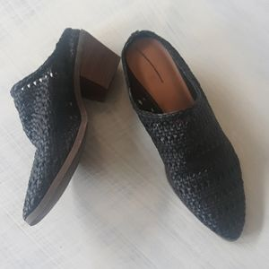 Black woven mules size 9 NEW